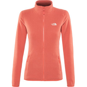 The North Face 100 Glacier Full-Zip Jacket Damen juicy red stripe